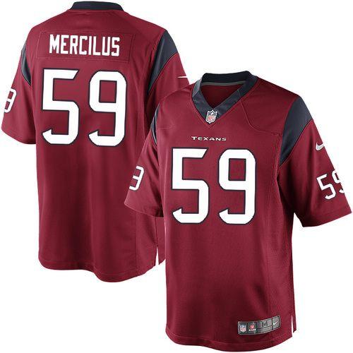 Nike Limited Mens Houston Texans #59 Whitney Mercilus Alternate Red NFL Jersey$89.99