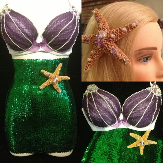 Mermaid  Little Mermaid 3 Piece Set by ElectricAveCreations, $125.00  *minus the bra for me