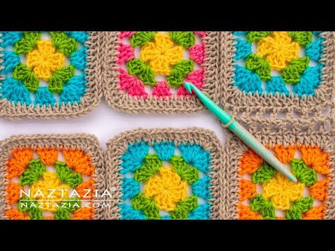 How To Join Granny Squares In Crochet 5 Different Ways Of Connecting By Naztazia Youtube Joining Granny Squares Joining Crochet Squares Granny Square