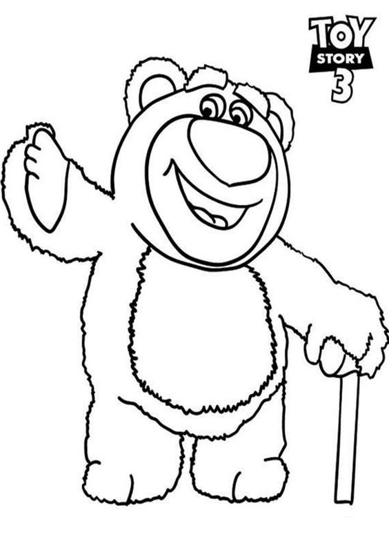 Free Easy To Print Toy Story Coloring Pages Toy Story Coloring Pages Bear Coloring Pages Disney Coloring Pages