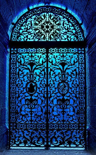 Mystical blue draws me in. Open the door. Bathe in it.