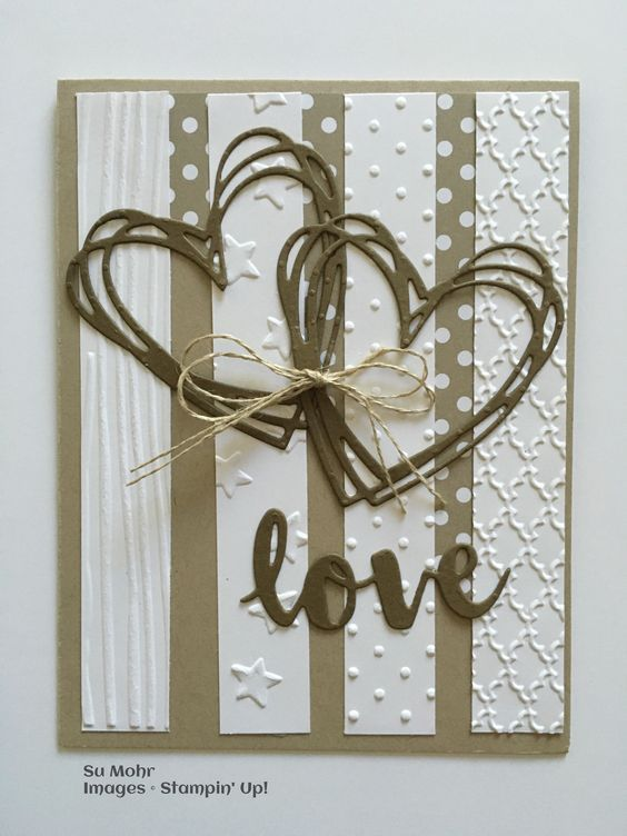 Pals Paper Crafting Card Ideas Su Mohr Mary Fish Stampin Pretty. (SU-Sunshine Wishes dies).  (Pin#1: Valentines: SU-3D/ Dies....  Pin+: Valentine: Words...; Backgrounds: Strips/...).