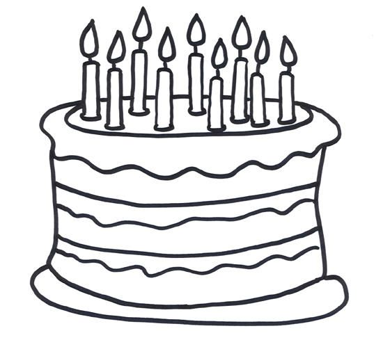 Birthday Cake Coloring Pages With Nine Candles Cake Clipart Birthday Cake Clip Art White Birthday Cakes