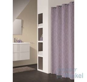 #douchegordijn #Sealskin #Modern #douche #badkamer #Styling http://www.sanitairwinkel.nl/badkamer-accessoires/sealskin-douchegordijn-textiel-murcia-67-polyester-33-katoen-180x200cm-lila/