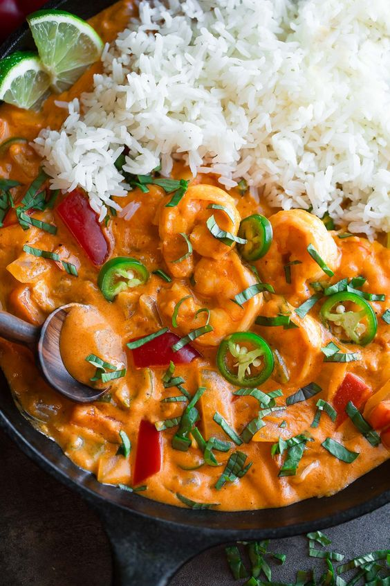 Easy Thai Coconut Shrimp Curry