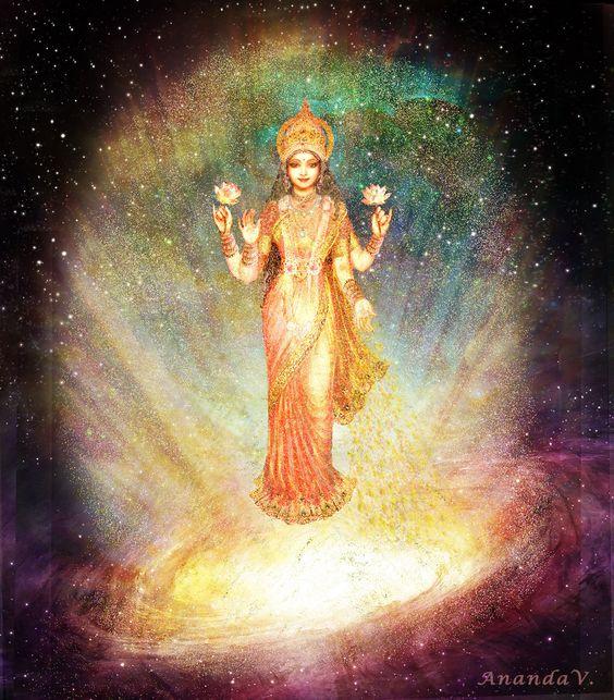 Lakshmi rising from a Galaxy
