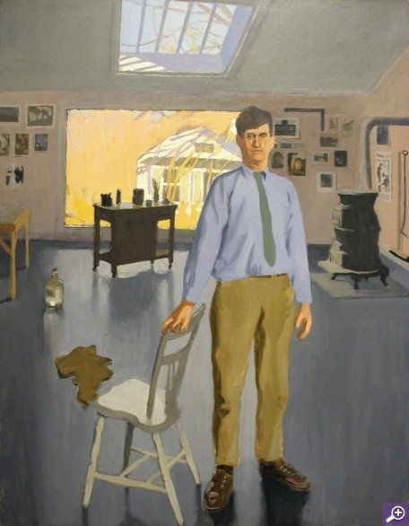 """Self-Portrait,"" Fairfield Porter, 1968, oil on canvas, The Dayton Art Institute."