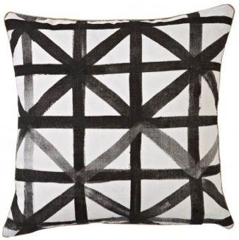 Bonnie + Neil Linen Geometric Black + White Pillow  Visit Centophobe.com for more decrating ideas...