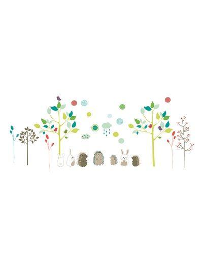 Stickers pour chambre nature d co b b la chambre de b b pinterest design bonheur et for Catalogue vertbaudet chambre bebe