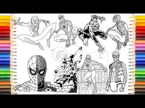 Spider Man Coloring Book Spider Man 50 Plus Videos Coloring Pages Youtube Spiderman Coloring Coloring Pages Coloring Books