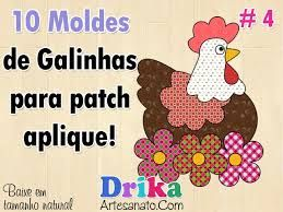 Resultado de imagem para riscos e moldes de galinha para patchwork