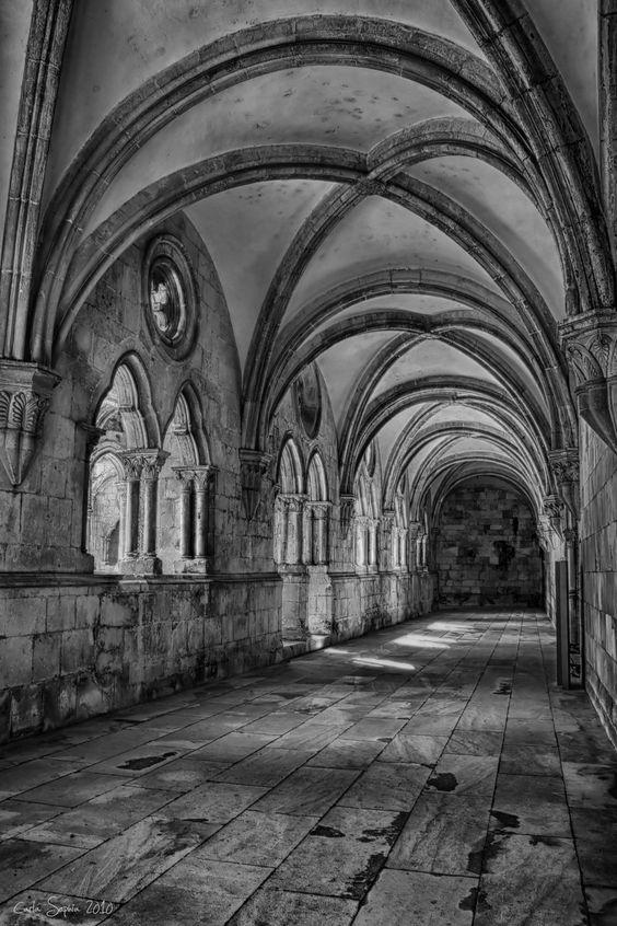 The monastery VII by CarlaSophia on DeviantArt Alcobaça Monastery, Alcobaça, Portugal