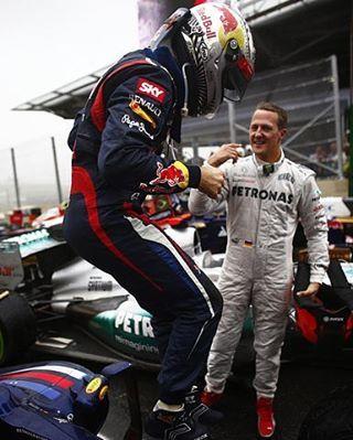 Schumi and Seb ❤  #SebastianVettel #Seb5 #SV5 #Vettel #MichaelSchumacher…