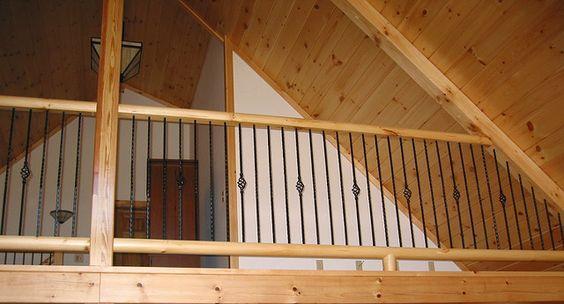 Loft railing | For the Home | Pinterest | Loft railing, Lofts and Wrought  iron railings