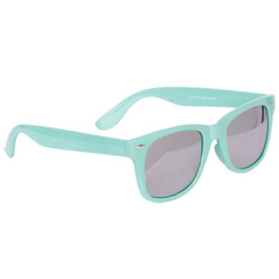 Retro teal glasses