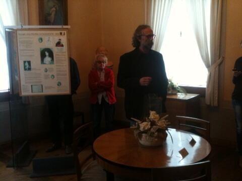 """""""Digitaler Musenhof"""" im Museum Burg Posterstein mit den Hashtags #IMT13 #P - Foto von @MarcusEngemann: """"nicht nur zur heutigen Zeit, auch die Herzogin von Kurland hatte damals schon genetworkt, auf ihre Art."""""""