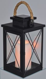 Solar Lantern with Pillar Candle