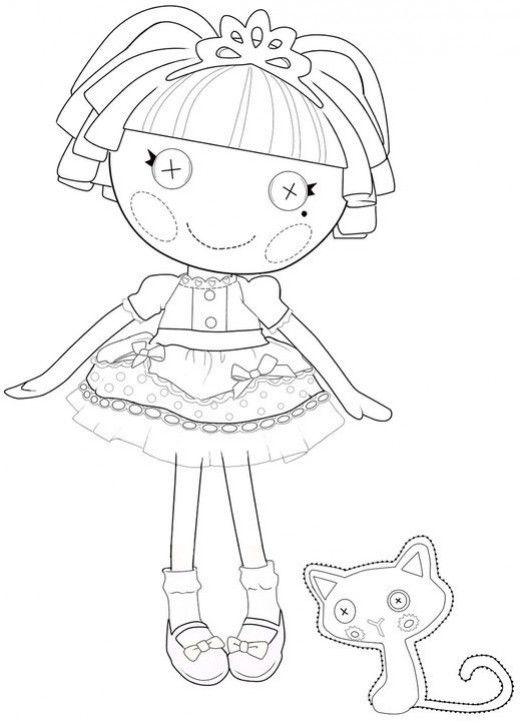 The best lalaloopsy dolls coloring pages coloring for Lalaloopsy littles coloring pages