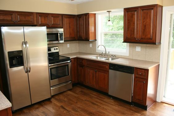 Mocha Mitre kitchen cabinets with mitered doors, low price ...