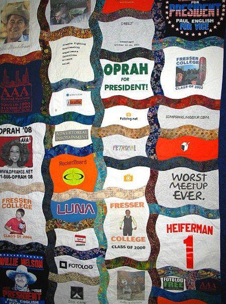 Tee shirt quilt wavy sashing 2836444310_ec5411e5c7_z