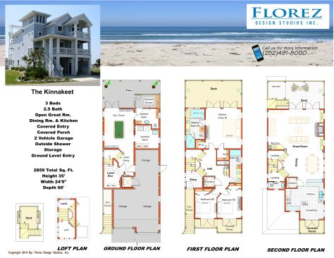 the kinnakeet,southern shores nc. house plans, kitty hawk nc