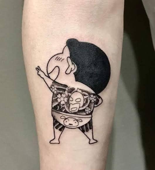 Shinchan Yaguza Tattoo ในป 2021 รอยส กหม ก รอยส กเล กๆ รอยส กแขน