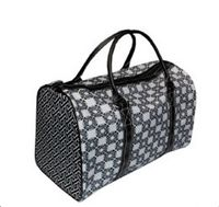 Mainstreet Collection Black Sassy Duffle Bag