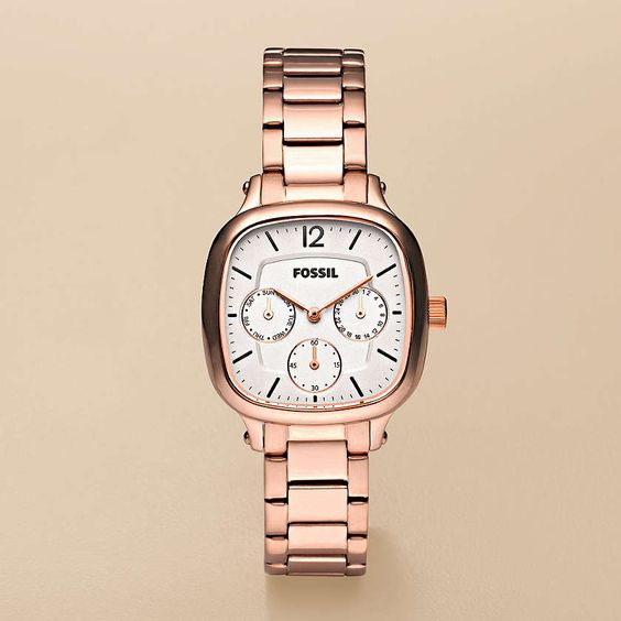 FOSSIL® : Delicate Stainless Steel Watch – Rose ES2855    Fell in love with mine!