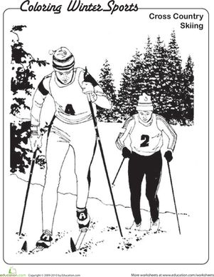 cross country skiing coloring pages - photo#14