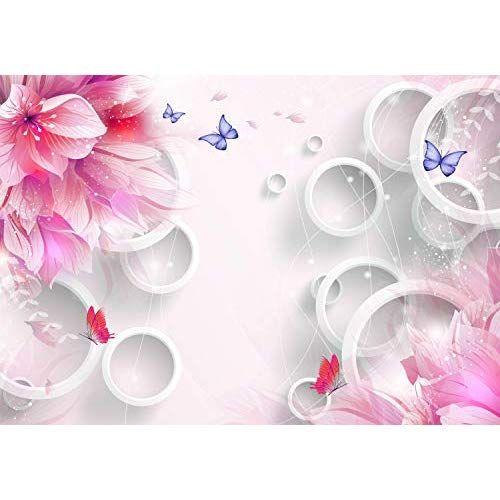 Fototapete Fototapete Blumen Grun Vintage Zeichnung Fototapete