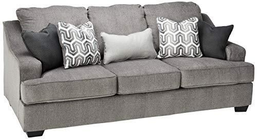 Ashley Furniture Signature Design Gilmer Chenille Upholstered Queen Size Sleeper Sofa Contemporary Gunmetal In 2020 Queen Size Sleeper Sofa Sleeper Sofa Ashley Furniture