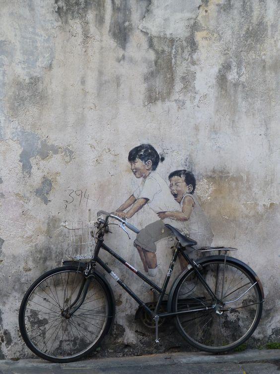 Famous Penang street art:
