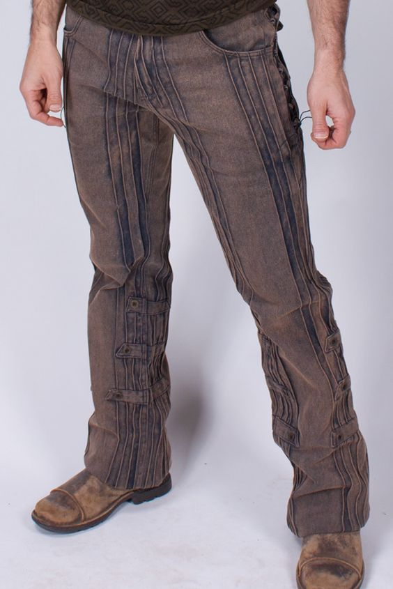 Gaucho Pants - HD Stretch - Gold Dust | Lace, Cotton canvas and Pants