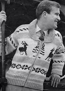 Reindeer, Vintage and Knitting patterns on Pinterest
