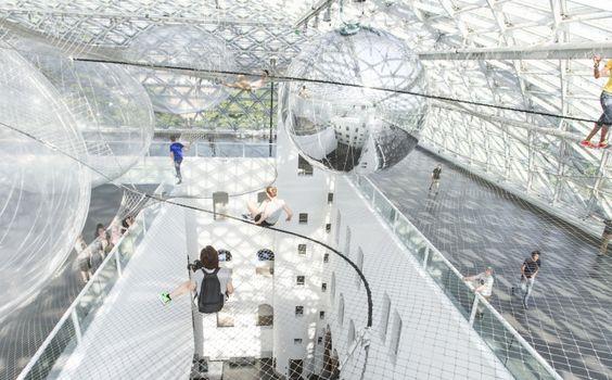 In Orbit installation by Tomás Saraceno, Düsseldorf – Germany » Retail Design Blog