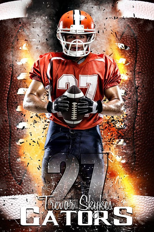 American Football Player holding ball out  Stock-Foto Canes - sample soccer team roster template