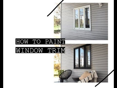 Home Series Painting Our Window Trim Alliebeckwith Black Trim Exterior House House Trim Exterior White Exterior Houses