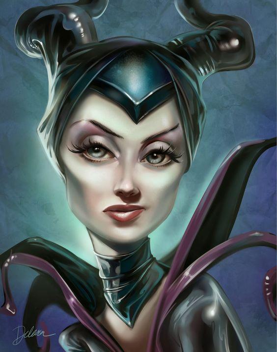 CRIS DELARA: Maleficent Cartoon Style - Model Better Davis ...