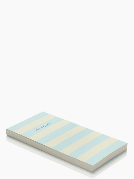 "Kate Spade ""Dear Baby Sitter"" Note Pad - Cute Gift for a new Mom!"