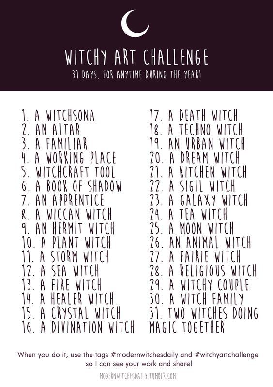 """modernwitchesdaily: """"WITCHY ART CHALLENGE ✨ Summer is coming and here is for you, all witch artist/writer of this world, a Challenge with only witchy stuff to draw or write about! You can do whatever you want with it, whenever you want! It's just a..."""