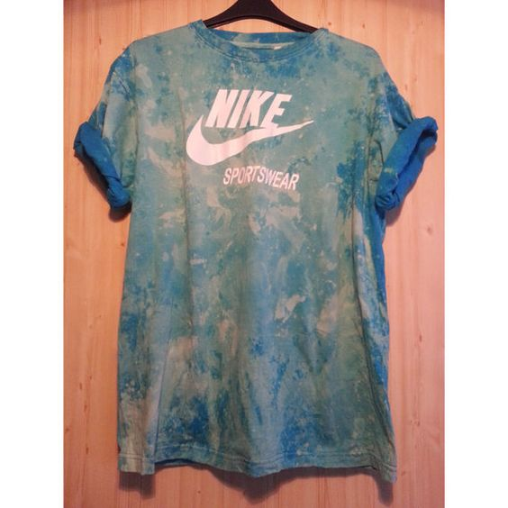 Reworked Tie Dye Seapunk Retro Sports Nike T shirt by DalixStudios, £30.00