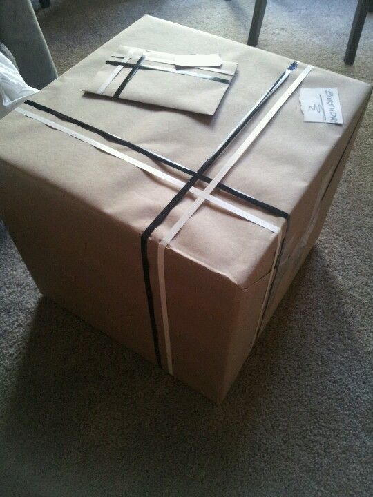 He got me a birthday present and wrapped it himself