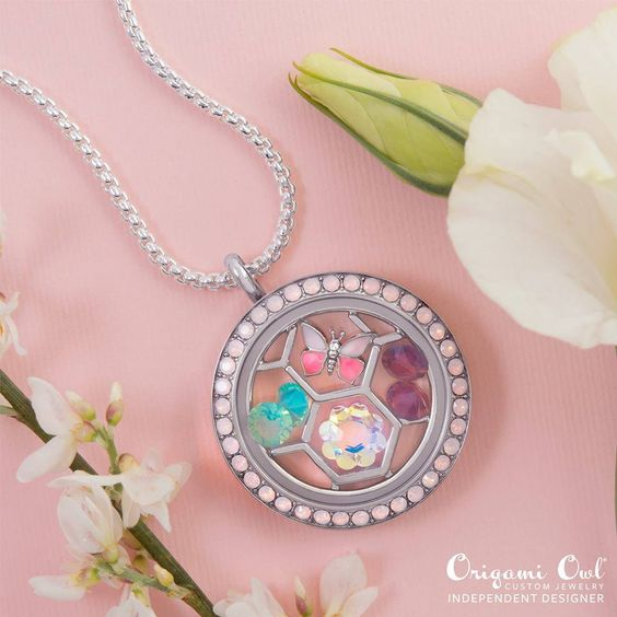 #OrigamiOwl #authentic Living #Lockets and crystals by #Swarovski. All #charms $5. Customize yours or join my team for a discount at www.dinaanderson.origamiowl.com #spring #butterfly