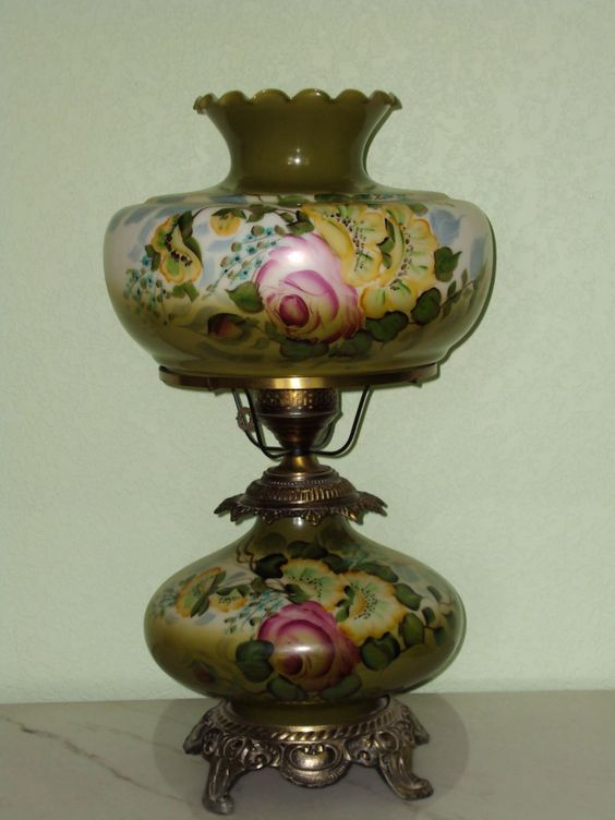 Hurricane Lamp Hand Painted A Light In The Darkness