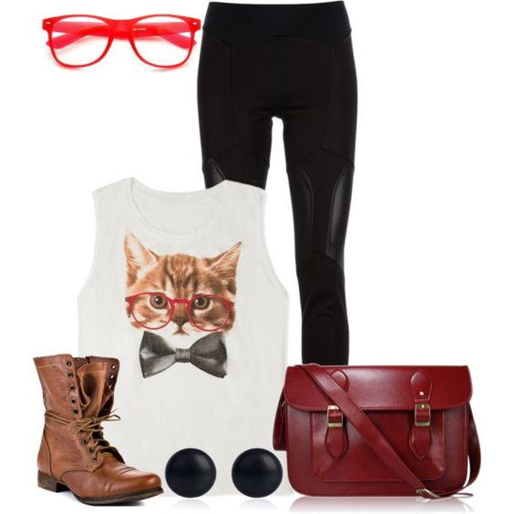 Hipster Fashion - Polyvore   Clothes and shoes   Pinterest   Kittens Artsy and Glasses