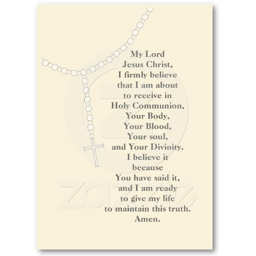 My First Rosary First Holy Communion Prayer Card Business