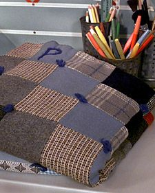 Wool-Tweed Patchwork Throw | Step-by-Step | DIY Craft How To's and Instructions| Martha Stewart