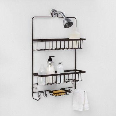 Large Bathroom Shower Caddy Bronze Made By Design En 2020 Cosas Para Comprar Banos Y Casas