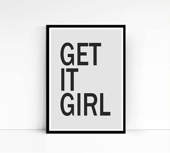Retro Typography Poster Digital Art Print Get It by mixarthouse