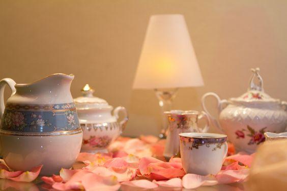 Decoração para mesa do café em casamentos